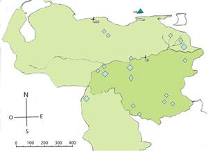 Ubicación de centros en Venezuela
